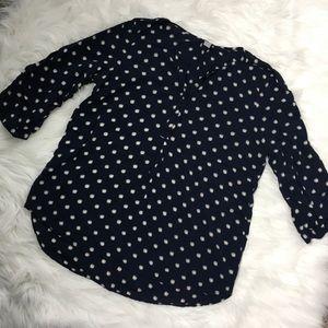 3 for $12 🍁  Polka Dot 3/4 Sleeve Blouse